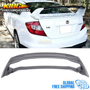 Spoiler Painted Metallic for 12-15 Civic Mugen-Style ABS Trunk Global Worldwide