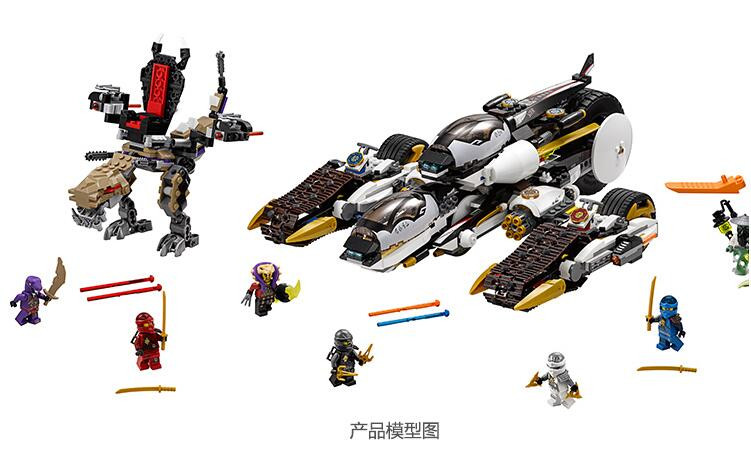 1167Pcs Ninjagoes Ultra Stealth Raider 70595 Building Bricks Ninja Figure Toys For Children Compatible With Lepin Lele lepin 06037 compatible lepin ninjagoes minifigures the lighthouse siege 70594 building bricks ninja figure toys for children