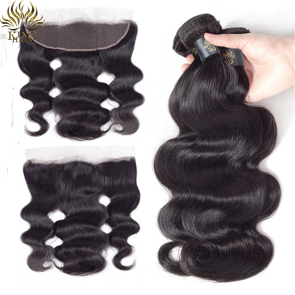 Peruvian Body Wave Hair 3 Bundles With Closure 4pcs Lot KING Remy Hair Weave Extensions 100