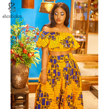 Shenbolen African Fashion Women Clothes Dashiki Cotton Print Batik Skirt Set Tradition Clothing