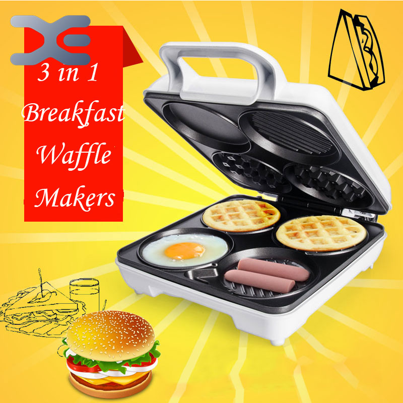 High Quality Multifunction Machine Waffles Muffin Machine Pancake Machine Breakfast Machine Free Shipping
