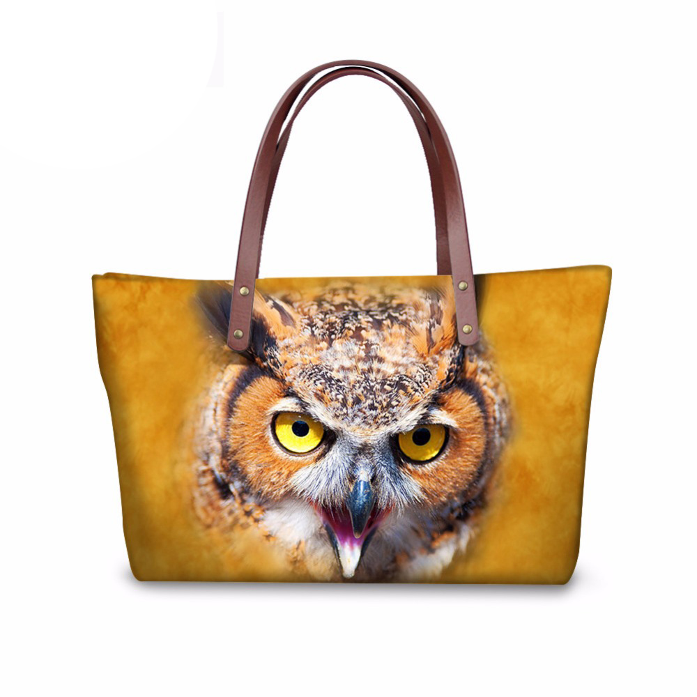3D Animal Eagle Women Handbags Luxury Designer Ladies Shoulder Shopping Top-handle Bags Large Capacity Tote Bag