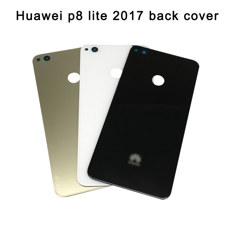 Huawei P8 Lite 2017 Back Glass Battery Cover Rear Door For Huawei P9 Lite 2017 Back Glass Cover Housing Case Panel Replacement