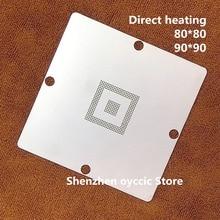 ความร้อนโดยตรง 80*80 90*90 SAK TC1797 SAK TC1797 512F180E AC SAK TC1796 256F150EBE BGA Stencil แม่แบบ