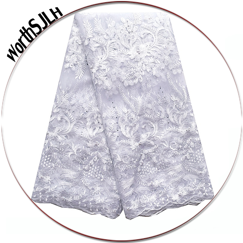Best Quality African White Lace Fabric 2018 Glitter Beades Nigerian Lace Fabrics Fushia Pink Latest 3D Lace Fabric For Dresses Best Quality African White Lace Fabric 2018 Glitter Beades Nigerian Lace Fabrics Fushia Pink Latest 3D Lace Fabric For Dresses