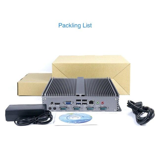Yanling moins cher intégré Linux Mini PC Intel J1900 Quad Core X86 simple ordinateur de bord Lan 8 USB prise en charge SIM Slot DDR3L Ram