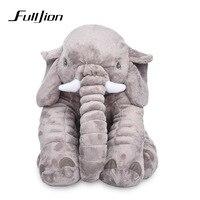 Fulljion слон плюша Животные Игрушечные лошадки для детей Куклы и мягкие игрушки Детские Kawaii спать обратно Подушки Подушка подарки