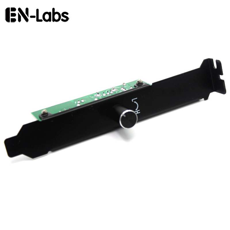 En-Labs 3 Channels PC Cooler Cooling Fan Speed Controller For CPU Case HDD VGA Fan W/ PCI Bracket,Power By 12V Molex IDE 4pin