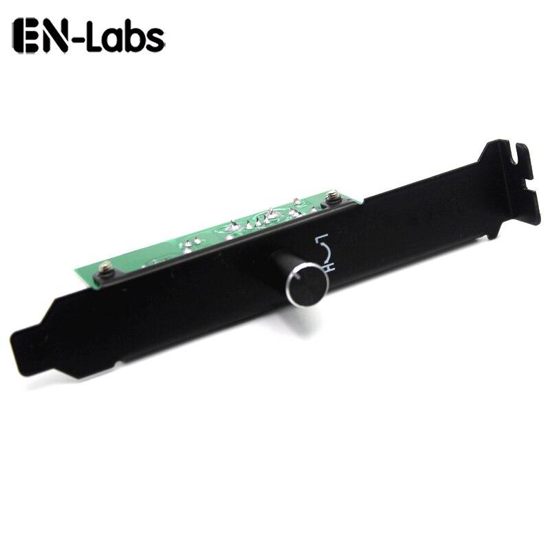 En-Labs 3 Channels PC Cooler Cooling Fan Speed Controller for CPU Case HDD VGA Fan w/ PCI Bracket,Power by 12V Molex IDE 4pin