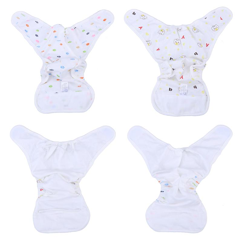 1pc Baby Cloth Diaper Cartoon Animals Printed Anti Leakage Infant Solid Cotton Paper Diaper Reusable Babies Nappies