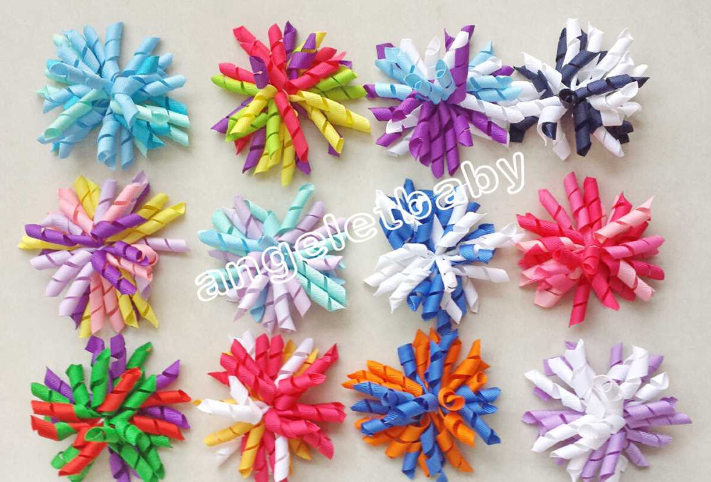 "4"" korker hair bow hairs clips"