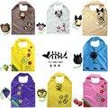Cartoon Tote Shopping Bag Monkey Pig Cow Dog Foldable Shopping Bags eco Reusable Folding Recycle Shopping Bag 12KG Bearing