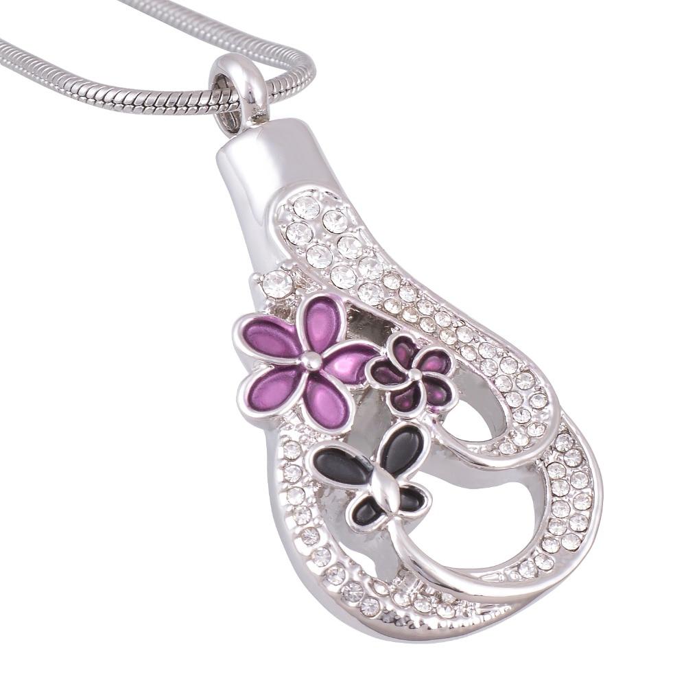 Aliexpress Buy Snake Chain Purple Flower With Butterfly