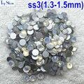 Top Quality 1440 pçs/saco ss3 (1.3-1.5mm) White Opal Cor Strass para Unha Flatback Não Hotfix Cola em Unhas de Cristal De Vidro Da Arte