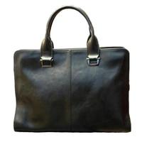 Business men's Briefcases split Leather Men's Bag Male 14 Laptop Bags Messenger Bag for Men Leather Briefcase lawyer Travel