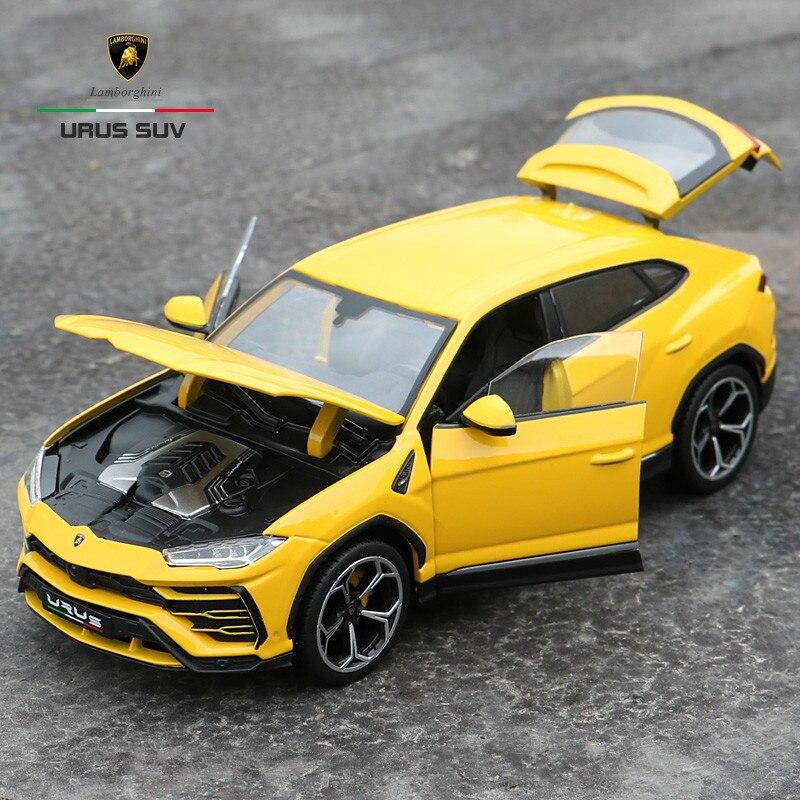 Kolekcjonerska ze stopu gld52 Stactic skala modele samochodów sportowych Die cast coche carro zabawki dla dzieci 1:18 auto pojazdu Rambo urús SUV w Odlewane i zabawkowe pojazdy od Zabawki i hobby na  Grupa 1