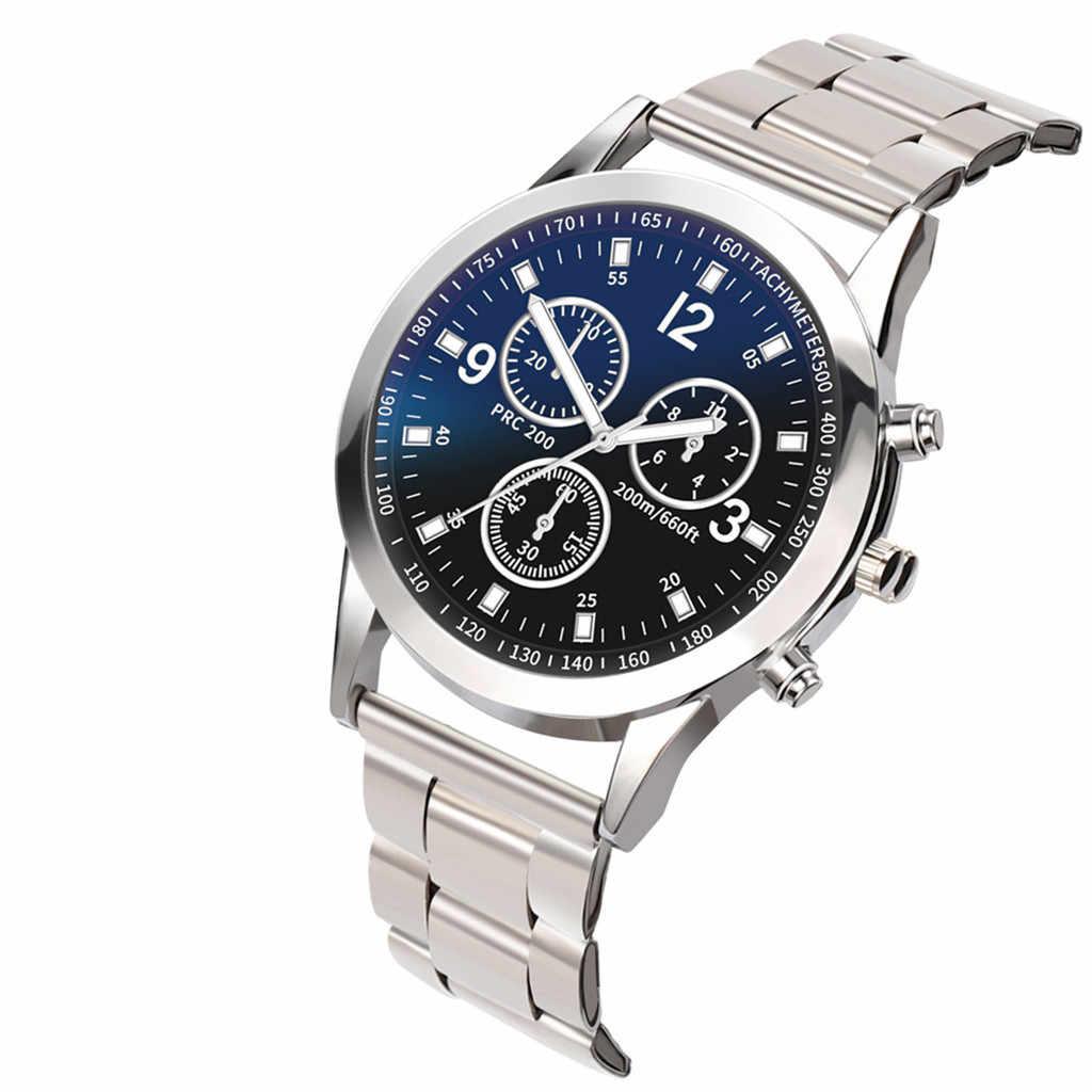 Relogio masculino relógios men 2019 relógio de luxo quartzo aço inoxidável dial casual bracele relógio de pulso negócios reloj hombre saat