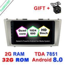 9 «2 г + 32 г 2 Din автомобильный Dvd Android 8,0 для Toyota Camry 2007 2008 2009 2010 2011 Радио Стерео gps-навигация с рулевое колесо