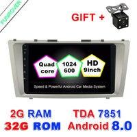 Funrover 9 2 din автомобильный Dvd Android 8,0 для Toyota Camry 2007 2008 2009 2010 2011 Радио Стерео Gps навигации с рулевого колеса