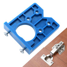 wood jig 35mm Hinge Jig Hole Saw For Furniture Door Cabinet Hinge Installation pocket hole jig tool for carpentry(China)