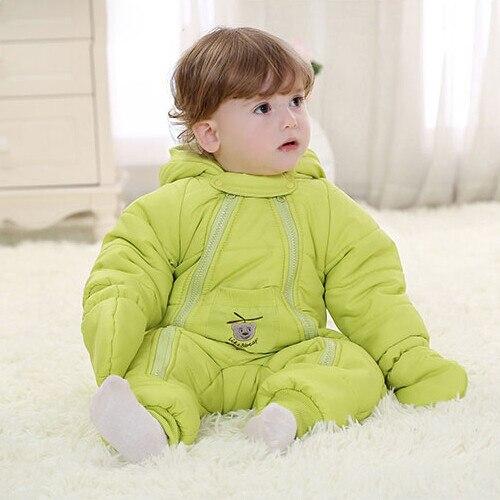 Зимний baby rompers младенческой Вниз горячая мальчик девочка сгустите комбинезоны вниз outwears комбинезон для новорожденных комбинезоны зимняя одежда