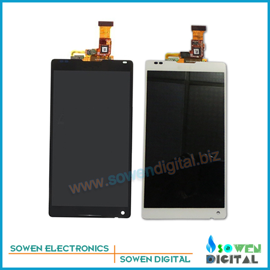 ФОТО for Sony Xperia ZL L35h LCD screen display with touch screen digitizer assembly full sets,,Black White