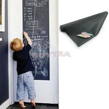 Chalk Board Blackboard Stickers Removable Vinyl Draw Decor Mural Decals Art Chalkboard Wall Sticker For Kids Rooms 45CMx200CM(China)