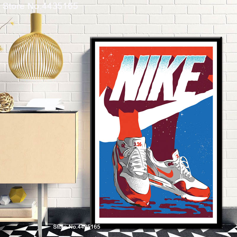 Sneaker Posters Shoes Canvas Painting Wall-Art-Picture Prints Michael Jordan Living-Room