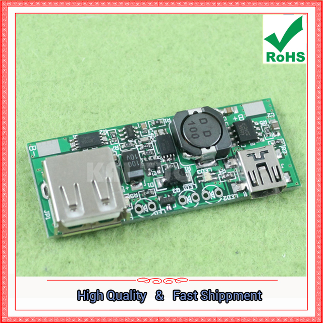 US $10 55 |Free Ship 3pcs mobile power chip 5V boost board with  identification module phone power charging converter step up buck  booster-in
