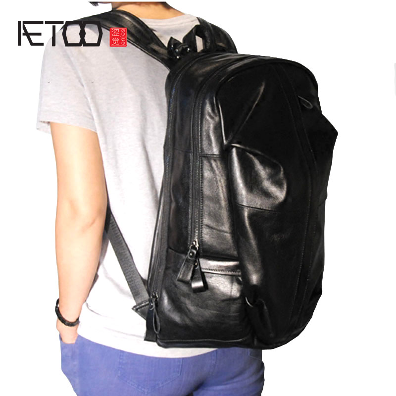 AETOO Mode grande section large bandoulière importations vache en cuir mâle sac à dos mâle sac d'alpinisme sac à dos
