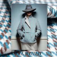 Warm Wool Woolen Fabric Winter Coat New Blue Handmade Custom Cloth