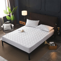 Bed Cover Brushed Fabric Quilted Mattress Protector Waterproof Mattress Topper for Bed Anti mite Mattress Cover copri rete letto