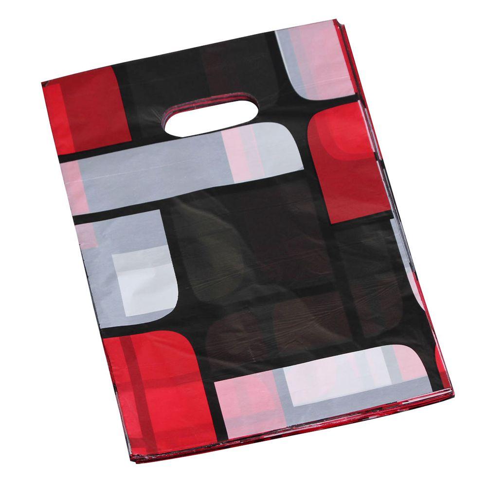 ALIM HOT 100Pcs Pretty Mini Mixed Pattern Plastic Jewelry Gift Bag Shopping Pouch 20*15CM Styles: 5