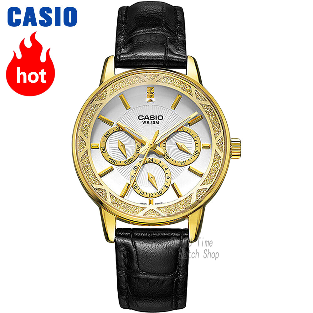 Casio watch Fashion Business Three Waterproof Steel Ladies LTP-2087GL-1A LTP-2087GL-4A LTP-2087GL-5A LTP-2087L-4A LTP-2087G-4A цена и фото