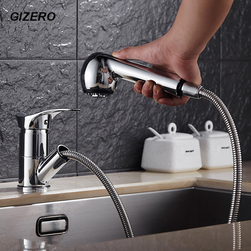 Kitchen Pull Out Faucets Chrome Finished Vanity Vessel