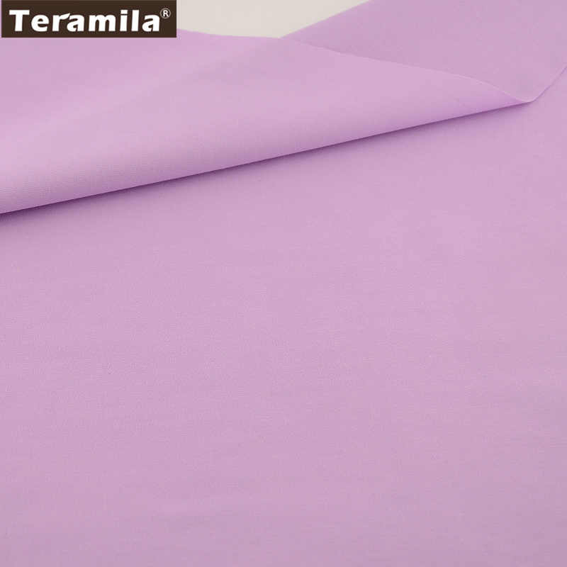 Home Textile Material Qulting Sewing 100 Cotton Fabric Clic Solid Light Purple Color Twill