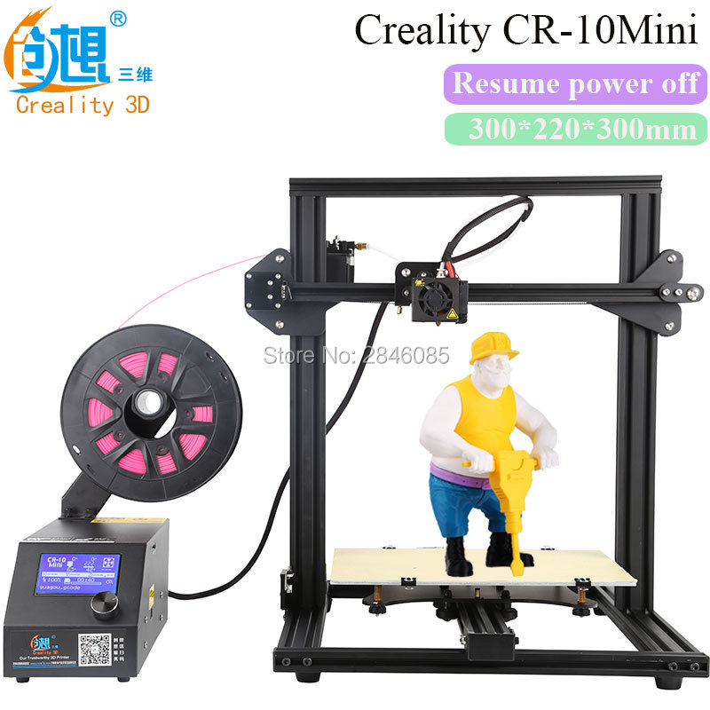 CREALITY 3D Official Store 3D Printer CR-10 Mini Big Print Size 300*220*300mm Support Resume after power off 3D Printer DIY Kit portable cr 7 mini 3d printer fdm lcd off line printing self assembly diy kit lightweight for artistic design free shipping