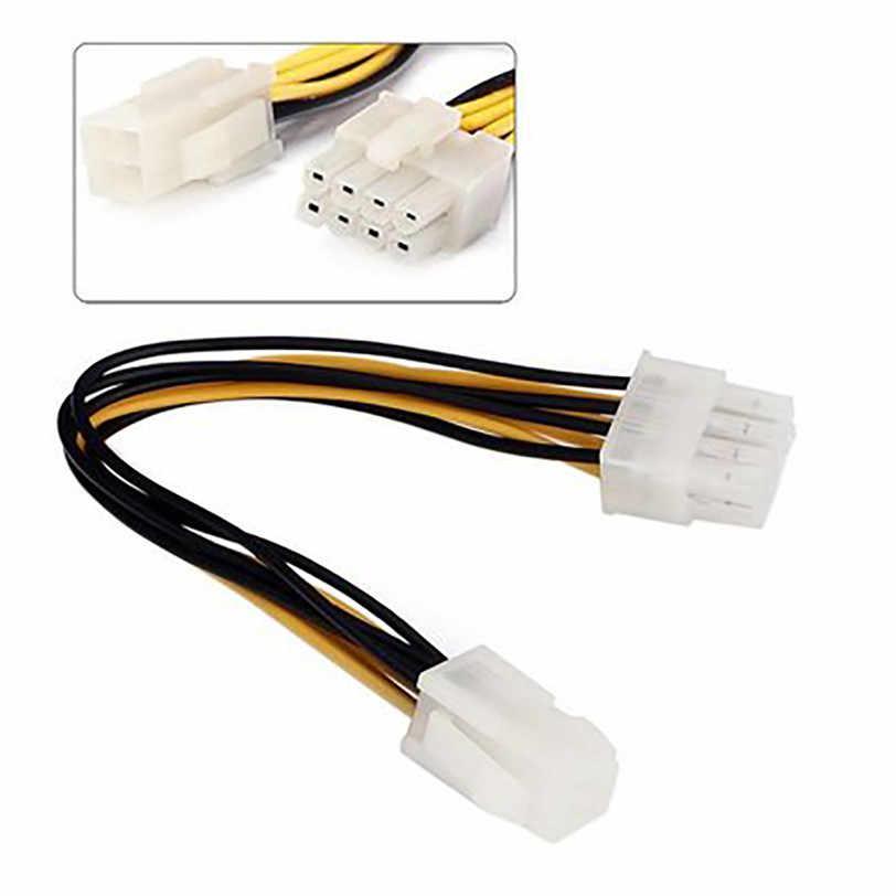 ATX 4 Pin męski na 8 Pin kobieta EPS moc Adapter kablowy zasilacza procesora Jul1 profesjonalne cena fabryczna Drop Shipping