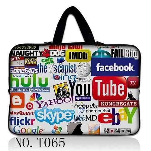 Bolsa de ordenador portátil de neopreno para Notebook Netbook manga fundas tableta bolsa para 13,3 15 15,6 17 7 8 10 12 13 mini maletín de ordenador de pulgadas