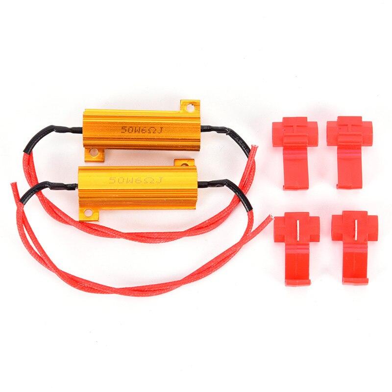 Piscamento rápido do sinal de volta do flash hyper 50 w 6 ohm rx24 carga resistor fix lâmpada led