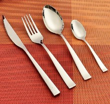 Stainle steel knife and fork set steak knife fork and spoon 4 piece dinnerware set quality western cutlery free shipping