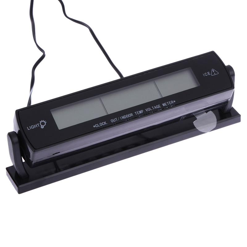 3 i 1 Multi Function Car Digital Auto Termometer Voltmeter Alarm - Reservdelar och bildelar - Foto 4