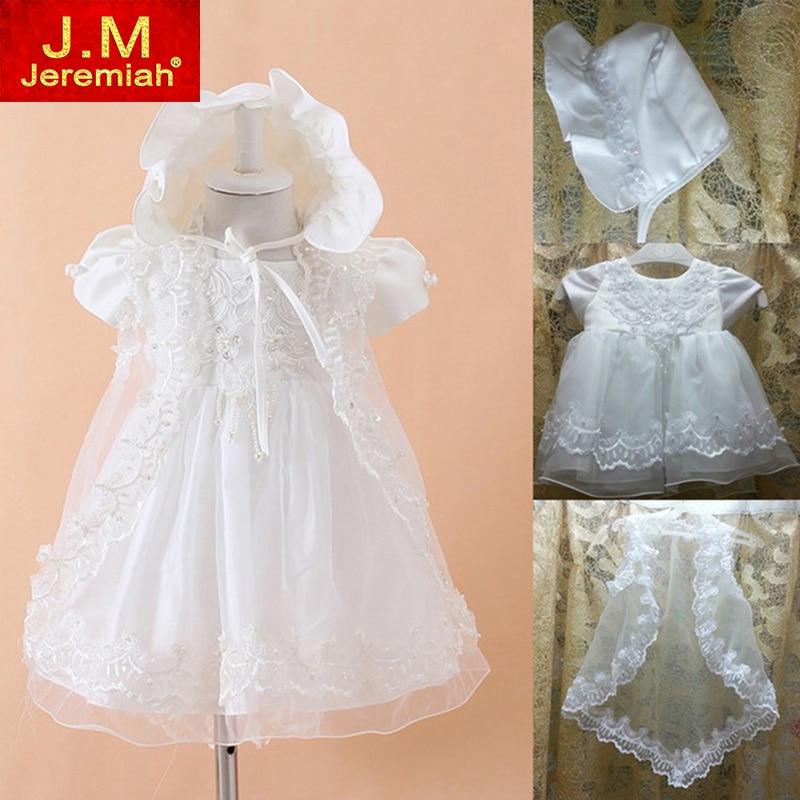 Baby Girls Christening Gowns Newborn Baptism Dress 1 Year Girls Baby Birthday Dress Infantis Princess Wedding