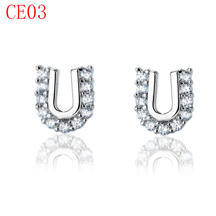 new arrive fashion earring jewerly rose sliver gold color earring CE03