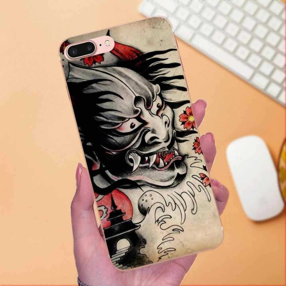 بارد أفضل اليابانية أوني Hannya شيطان قناع ل LG نيكزس 5 5X G2 G3 البسيطة الروح G4 G5 G6 K4 k7 K8 K10 2017 V10 V20 V30 ستايلس