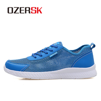 OZERSK Plus Size 38 48 Unisex Running Shoes Summer Breathable Mesh Men Shoes Outdoor Athletic Sneakers