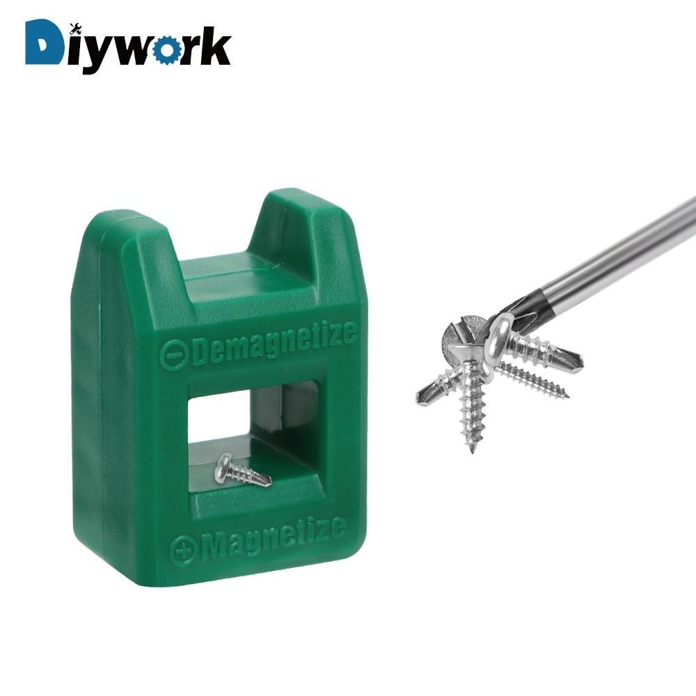 DIYWORK 2 In 1 Quickly Porcelain Demagnetization Filling Screwdriver Tool Porcelain Demagnetizer Magnetizer Degausser Mini