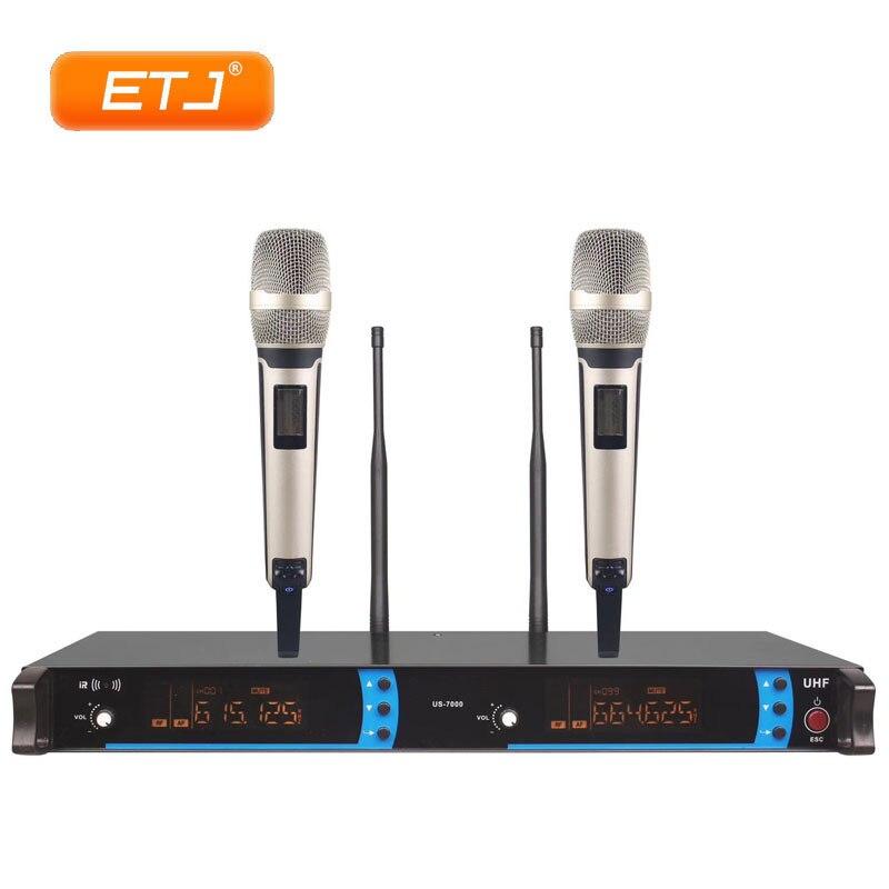 Professionnel Microphone Sans Fil UHF 2 Émetteur De Poche Karaoké Micro Micro Dynamique NOUS-7000 Par DHL UPS EMS