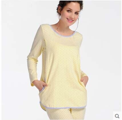 Winter Pant Women Long Sleeve Pregnant Clothes Maternity Sleepwear Cotton Maternal Nursing Breastfeeding Pajamas clothing set