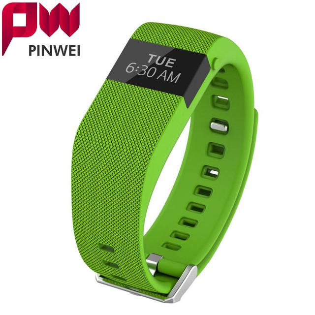 PINWEI Banda de fitness inteligente Como Carga de HORAS de Actividad Muñequera Pulsómetro Inalámbrico Oled Rastreador Salud Pulsera Inteligente